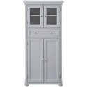 Hampton Bay 25 in. W x 52.5 in. H x 14 in. D 4-Door Tall Cabinet