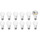 Philips 461798 60 Watt Equivalent Soft White A19 LED Light Bulb, 12-Pack