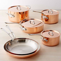 Cuisinart Tri-Ply Copper Cookware Set