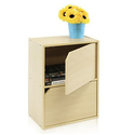 Steam Beech Handleless Bookcase