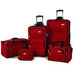 红色旅行箱套装