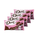Dove Promises Valentine Milk Chocolate Candy Hearts 8.87-Ounce Bag - Pack of 4