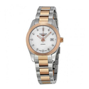 Longines Conquest Classic Mother of Pearl Dial Stainless Steel and 18kt Rose Gold Ladies Watch