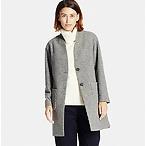 羊毛无领大衣
