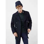 Button Wool Peacoat
