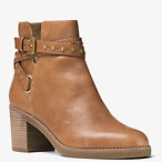 Fawn Leather Ankle Boot