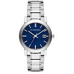 Men's Large Check Stamped Bracelet Watch