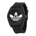 Adidas Santiago Black Dial Black Silicone Strap Men's Watch