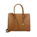 Michael Kors Mercer Large Bonded Leather Tote - Luggage