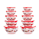 Chef Buddy 82-5758 20-Piece Glass Bowl Set