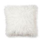 Cream Mongolian Faux Fur Pillow