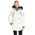 Nautica Women's Parka Jacket with Faux Fur Hood Strip