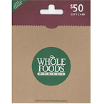 $50 Whole Foods Gift Card