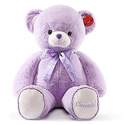 Kaylee & Ryan Plush Purple Large Teddy Bear
