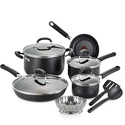 T-fal OptiCook Thermo-Spot Titanium Nonstick Cookware Set