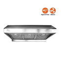 "BV Stainless Steel 30"" Under Cabinet High Airflow Ducted Range Hood"