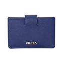 Prada Accordion Saffiano Leather Card Case