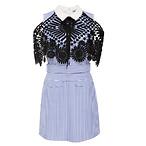 Lace And Cotton-Poplin Dress