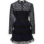 High Neck Star Lace Dress