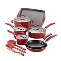 Rachael Ray Nonstick Aluminum and Porcelain Cookware Set (14-Piece)