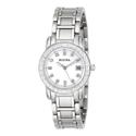 Bulova Women's Diamond-Accented Stainless Steel Watch