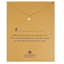 Dogeared Gold #Hashtag Pendant Necklace, 16""