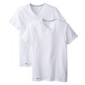 Lacoste Men's 2-Pack Colours Cotton Stretch V-Neck T-Shirt