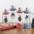 Totoro Glass Water Bottles