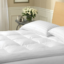 "100% Cotton 2"" Plush Featherbed Mattress Topper"