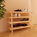 Furinno Pine Solid Wood 4-Tier Shoe Rack