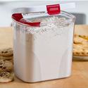 Progressive Flour or Sugar Keeper With Built-In Leveler