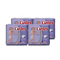 Cuties Baby Diapers Size 4 31-Count Pack of 4