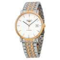 Longines Elegant White Dial Two-tone Steel Watch