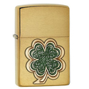 Zippo Four Leaf Clover Emblem Pocket Lighter