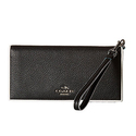 COACH Women's Tricolor Edgestain Slim Wallet Silver/Black Tricolor Wallet