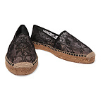 DOLCE & GABBANA蕾丝草编鞋