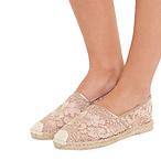 VALENTINO蕾丝草编鞋