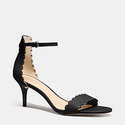 Coach Women's Monica Black Soft Shine Calf Sandal