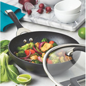 Circulon Symmetry Black Hard Anodized Nonstick 14-Inch Stir Fry