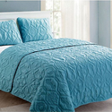 Shore or Nina Embossed Quilt Set (3-Piece)