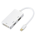 OMorc 3-in-1 Mini DisplayPort (Thunderbolt)To DVI VGA HDMI TV Adapter Cable