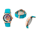 Bertha Ashley Mother-of-Pearl Leather Strap Watch
