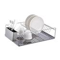 Home Basics 1- or 2-Tier Chrome Dish Racks with Tray
