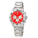 INVICTA Pro Diver Red Dial Stainless Steel Men's Watch