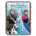 Frozen, Frozen Fun Woven Tapestry Throw