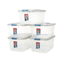 Rubbermaid Roughneck Clear Storage Container 50 qt Pack of 5