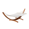 Weston Larch Wood and Canvas Hammock with Stand