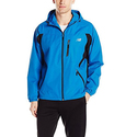 New Balance Men's Polyester Dobby Hooded Jacket with All Motion Trim
