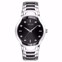 Bulova Quartz Diamond Markers Black Dial Men's Watch