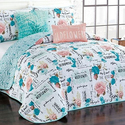 Floral Quilt Set (5-Piece)